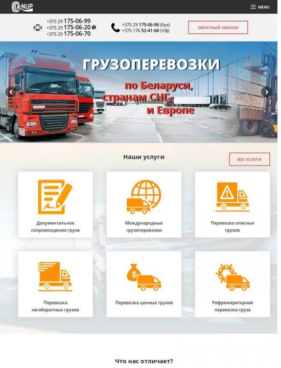 Разработка сайта logyst.by