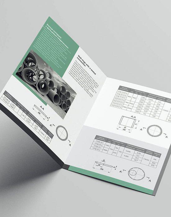 Буклет для компании «Минскметрострой». Дизайн. Печать.