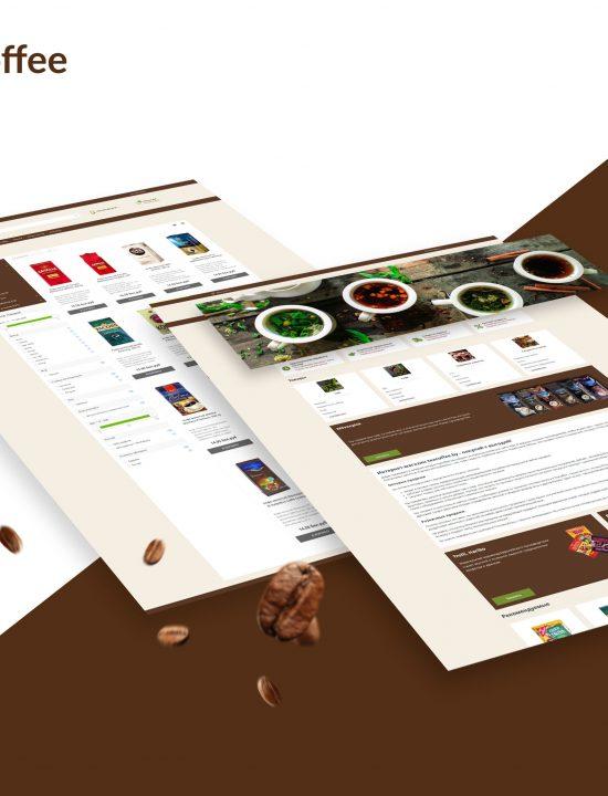 Сайт Teacoffee – интернет-магазин, в котором можно купить кофе, чай, кофейные напитки, сладости и готовые подарочные наборы teacoffee.by. Разработка. Дизайн.