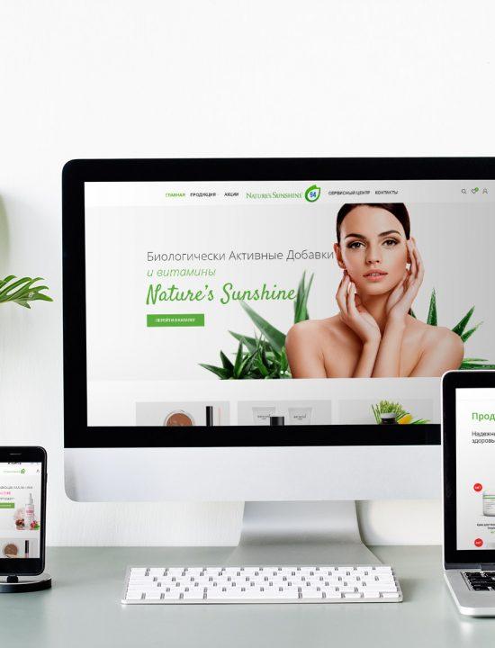 Интернет-магазин биологически активных добавок nsp94.by. Дизайн. Разработка.